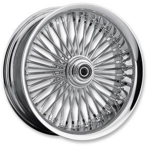 Drag Specialties Chrome 21 x 3.50 Radial Laced 50-Spoke Wheel Assembly for Single Disc w/ABS - 0203-0556