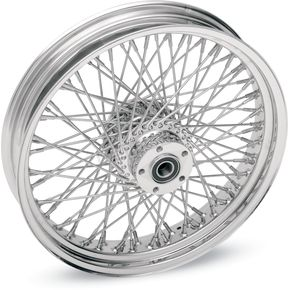 Drag Specialties Chrome 21 x 3.5 80-Spoke Laced Wheel Assembly - 0203-0407