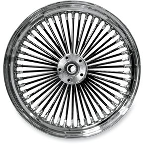 Drag Specialties Black 18 x 3.5 Fat Daddy 50-Spoke Radially Laced Wheel for Dual Disc - 02030354