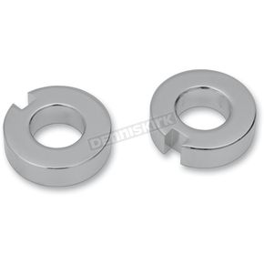 Drag Specialties Chrome Axle Adjuster Spacers - 0214-0589