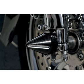 Black Re-Machined Front Spikes Axle Caps - LA-7813-00B