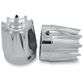 Chrome Excalibur Front Axle Nut Covers - AXL-EX-CH