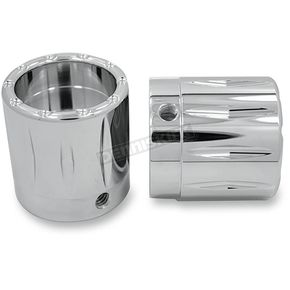 Avon Grips Chrome Rival Axle Nut Covers  - AXL-RIV-CH-78