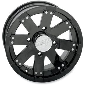 Vision Wheel 14 in. Black Buck Shot Wheel - 158PU148136GB4