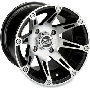 Machined/Black 387X 12x8 Wheel - 0230-0445