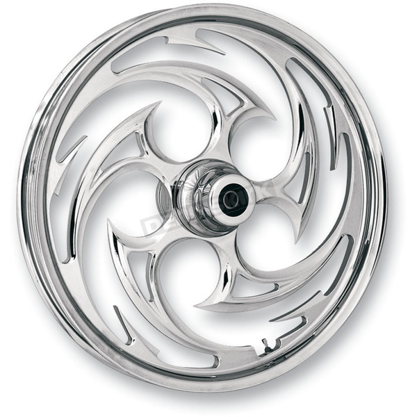 RC Components Chrome 21 x 3.5 Savage One-Piece Wheel for Single Disc w/o ABS - 21350-9031-85C