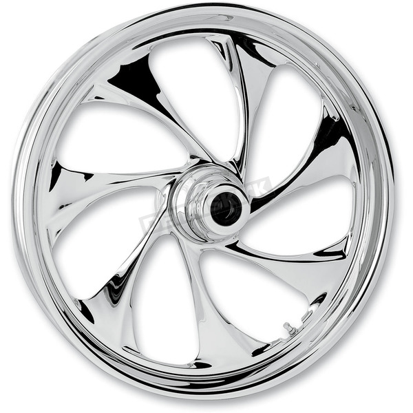 RC Components Front 18 in. x 3.5 in. Drifter One-Piece Forged Aluminum Chrome Wheel - 18350-9916-101C