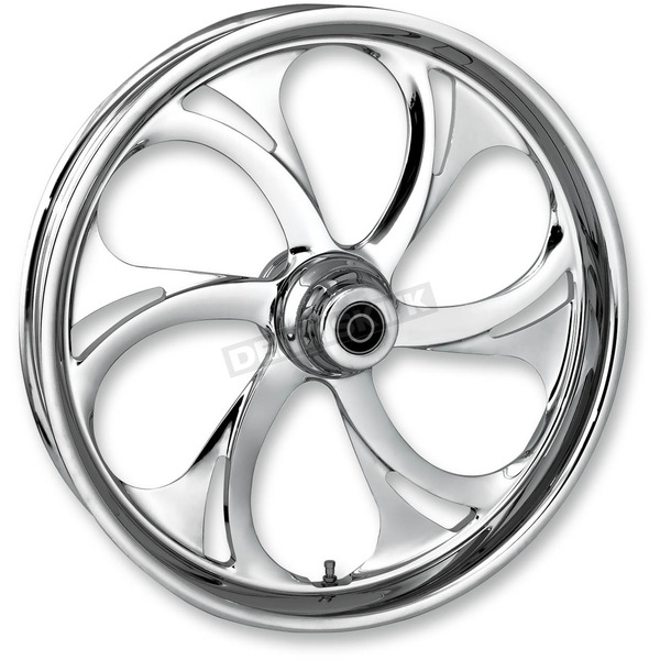 RC Components 23 in. x 3.75 in. Front Chrome Recoil One-Piece Forged Aluminum Wheel - 23750-9017-105C