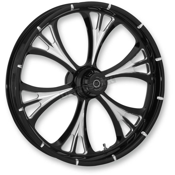 RC Components Black/Chrome 16 x 5.50 Majestic Eclipse Rear Wheel (Non-ABS) - 16550-9051-102E