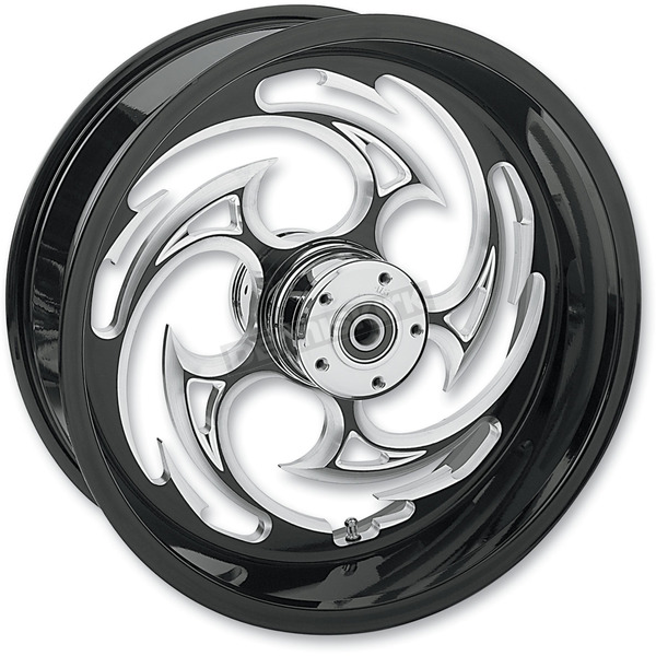 RC Components Rear Black 18 x 8.5 Eclipse Savage Inboard Brake Wheel for 240 Kit - SU031885080-85E