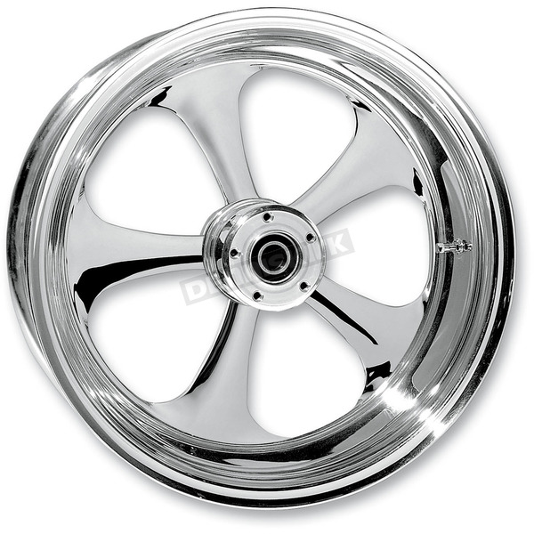RC Components Rear 17 in. x 6.25 in. Nitro One-Piece Forged Aluminum Chrome Wheel - 17625-9210-92C