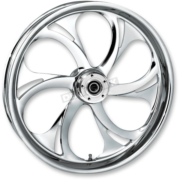 RC Components 18 in. x 4.25 in. Rear Chrome Recoil One-Piece Forged Aluminum Wheel - 18435-9174-105C