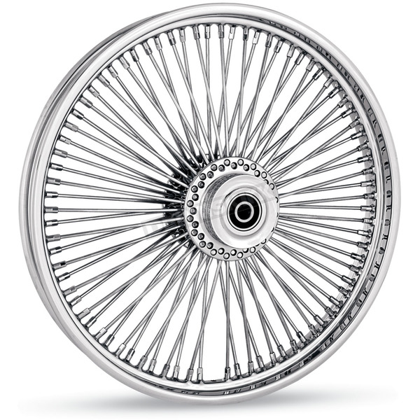 Drag Specialties Black 18 x 3.5 Fat Daddy 50-Spoke Radially Laced Wheel for Dual Disc - 0203-0351