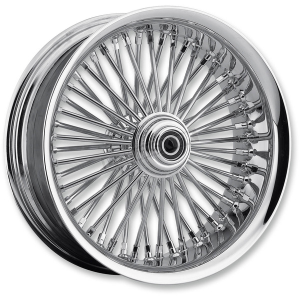Drag Specialties Chrome 23 x 3.75 Radial Laced 50-Spoke Wheel Assembly for Dual Disc w/ABS - 0203-0562