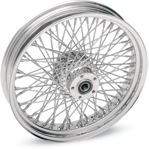 Drag Specialties Chrome 21 x 2.15 80-Spoke Laced Wheel Assembly for Single Disc - 0203-0042