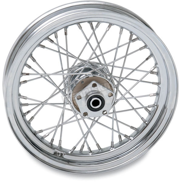 Drag Specialties Chrome Rear 16 x 3 40-Spoke Laced Wheel Assembly  - 0204-0370