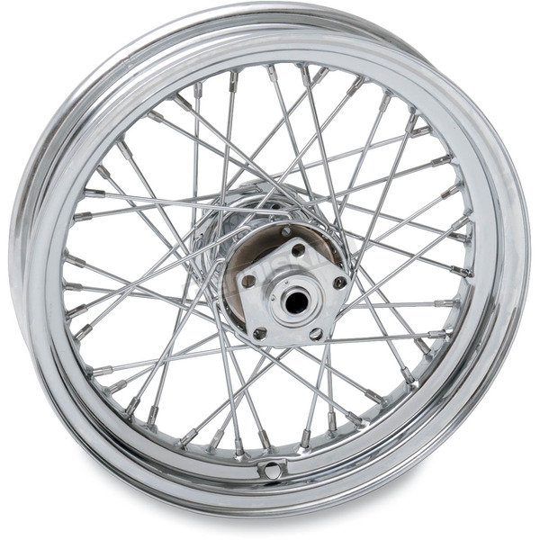 Drag Specialties Chrome Rear 16 x 3 40-Spoke Laced Wheel Assembly  - 0204-0374