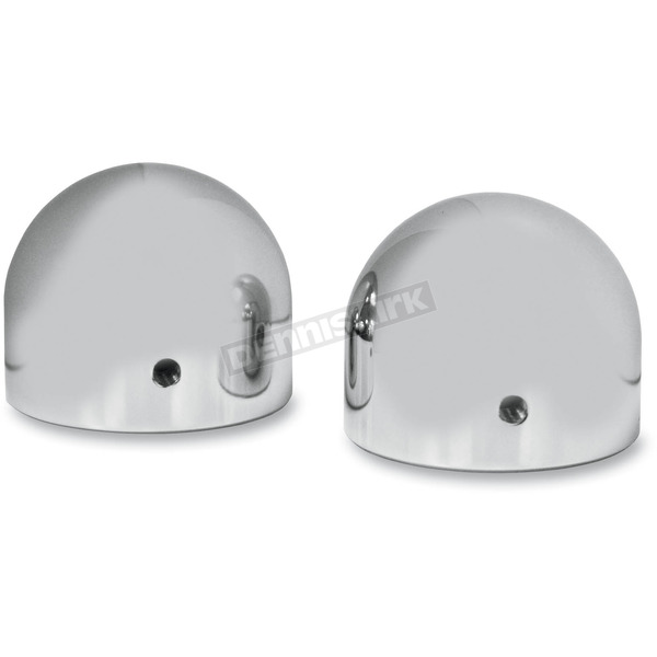 LA Choppers Chrome Front Dome Axle Caps - LA-7810-00