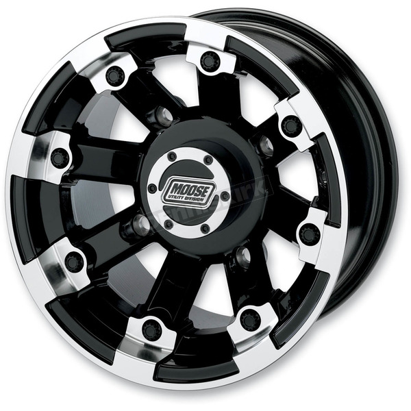 Moose Black 393X Cast Aluminum ATV/UTV Wheel - 0230-0518