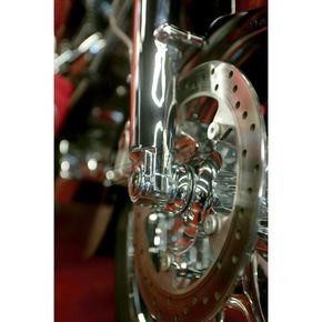 Klock Werks Chrome Lower Fork Leg/Axle Cap - 0403-0039