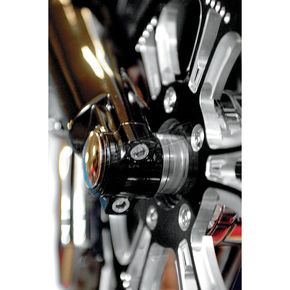 Klock Werks Black Lower Fork Leg/Axle Cap - 0403-0040
