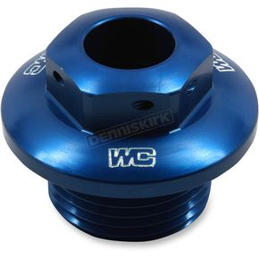 Works Connection Blue Steering Stem Nut - 24-400