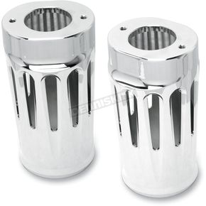 Arlen Ness Chrome Diamond Cut-Out Retro Fork Boot Covers - 20-023