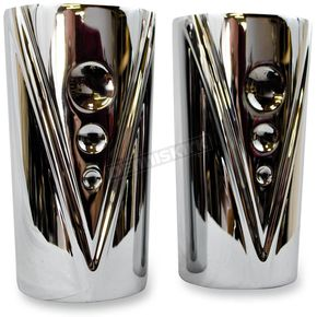 Trask Chrome V-Line Fork Tube Covers for Indian Chief - TM-6000CH
