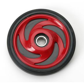 Parts Unlimited Candy Apple Red Idler Wheel w/Bearing - 4702-0043