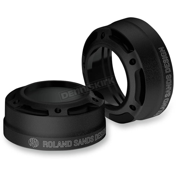 Roland Sands Design Misano Black Ops Fork Dust Caps - 0208-2088-SMB
