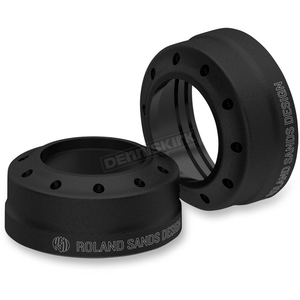 Roland Sands Design Tracker Black Ops Fork Dust Caps - 0208-2087-SMB