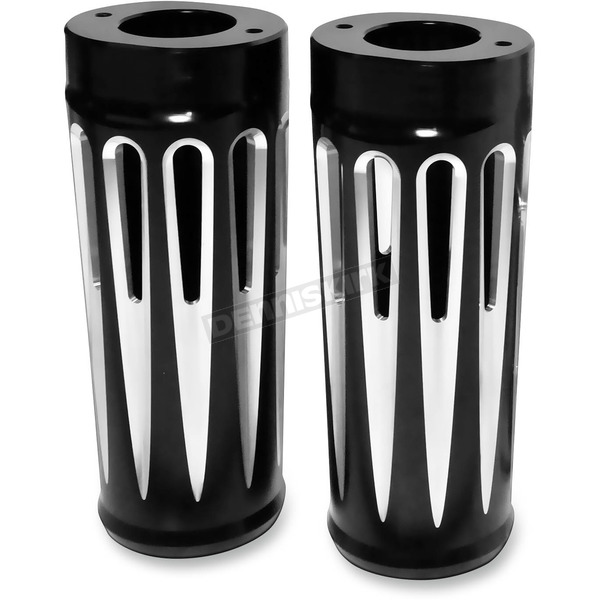 Arlen Ness Black Deep Cut +2 Fork Boot Covers - 20-028