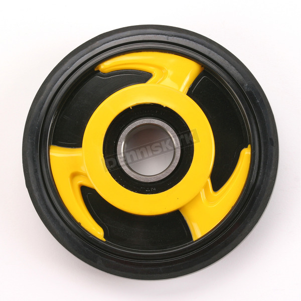 Parts Unlimited Yellow Idler Wheel w/Bearing - 4702-0028