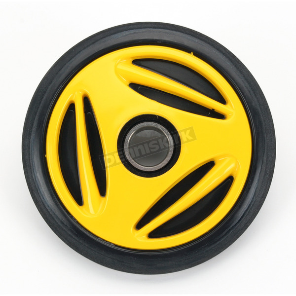 Parts Unlimited Yellow Idler Wheel w/Bearing - 4702-0034