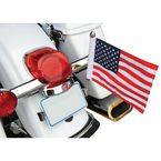 Flag Mount License Plate w/6 in. x 9 in. Flag - RFM-LPM