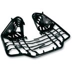 Black Nerf Bars w/Plate Heel Guards - S061078BL