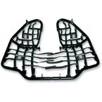 Black Nerf Bars w/Net Heel Guards - S061037BL