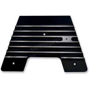 Covington Cycle City Gloss Black Finned Firewall Plate - C1340-B