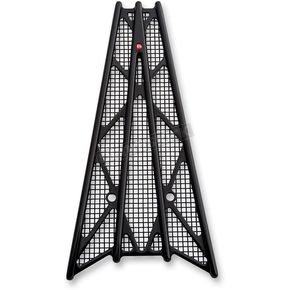 Battistinis Custom Cycles Black Anodized Wireframe Grill - 50-525