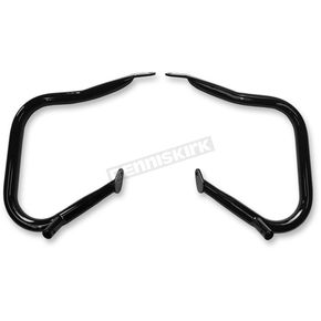 Drag Specialties Black Powdercoat Big Buffalo Saddlebag Bars - 0506-0790