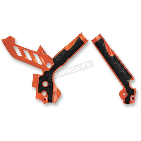 Acerbis Orange/Black X-Grip Frame Guards - 2374251008