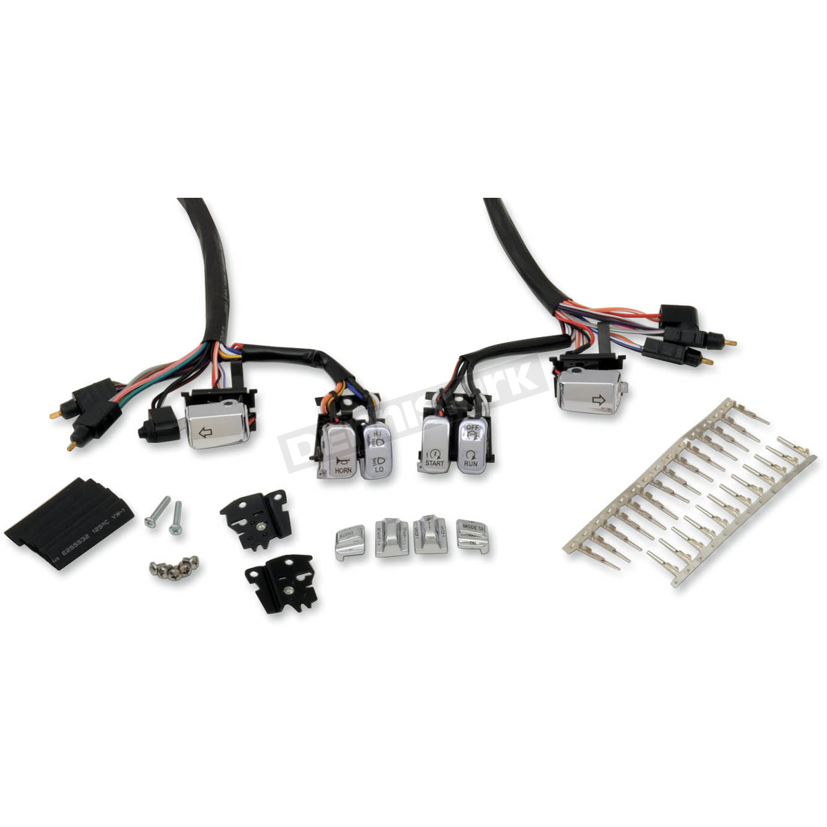 drag specialties chrome lighted switch kit