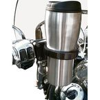 Black Roadrunner Drink Holder for H-D Controls - RR-HDB