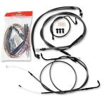 Midnight Stainless Handlebar Cable and Brake Line Kit for Use w/Original Equipment Handlebars - LA-8050KT2-00M