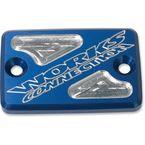 Blue Anodized Billet Aluminum Front Brake Reservoir Cover - 21-200