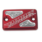 Red Anodized Billet Aluminum Front Brake Reservoir Cover - 21-205