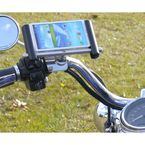 Chrome E-Caddy Slide Phone Mount for Harley Davidson Switch Housings/Controls - ESL-HD-L