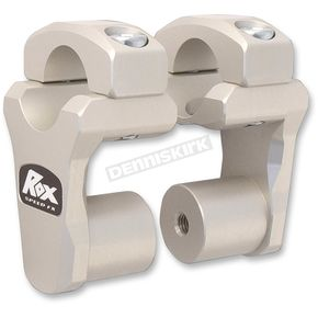 ROX Speed FX Clear Anodized Dual Sport 2 in. Pivoting Handlebar Risers for 1 1/8 in. Bar Clamps - 1R-P2PPA