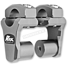 ROX Speed FX Gray Anodized 2 in. Pivoting Handlebar Risers for 1 1/8 in. Bar Clamps - 1R-P2PPG