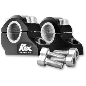 ROX Speed FX Black Anodized 1 1/4 in. Pro-Offset Elite Block Risers for 7/8 in.-1 in. Handlebars - 3R-B12POEK